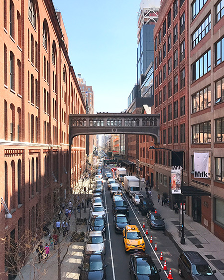 Viagem para Nova York: Vista da Highline para o Meatpacking District | Cozinha do João