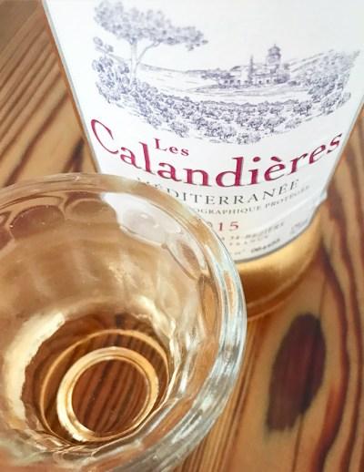 Vinho rosé Les Calandières, vendido pela evino | Cozinha do João