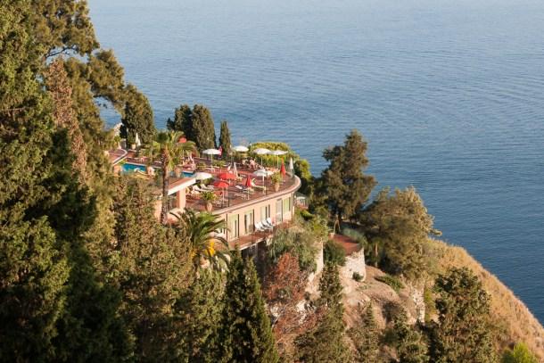 Vista do mar na viagem para Sicília, na Itália: Taormina | Cozinha do João