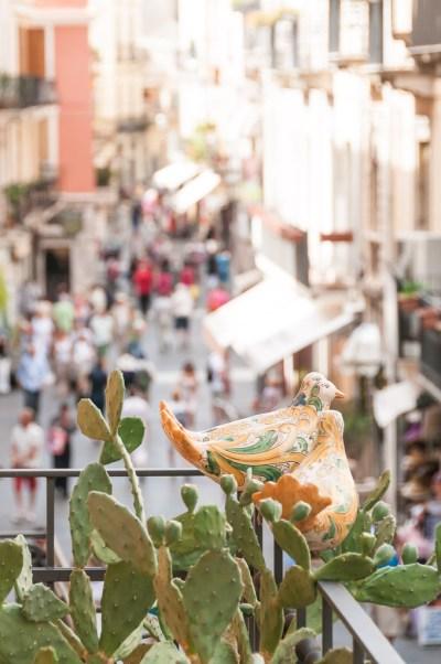 Corso Umberto na viagem para Sicília, na Itália: Taormina | Cozinha do João