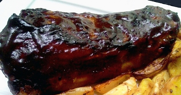 Costelinha glaceada no molho barbecue (Ribs on the barbie – na airfryer)