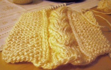 Schal stricken Zopfmuster