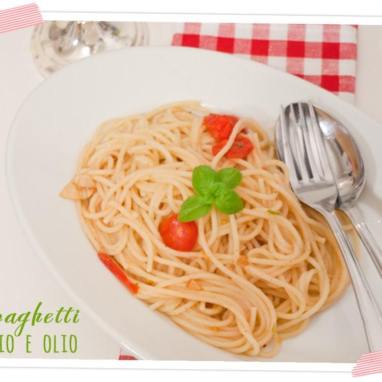 Spaghetti mit Knoblauchöl