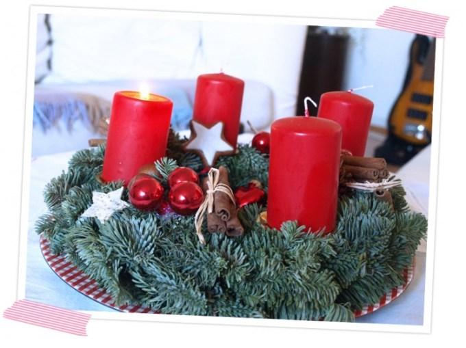 Selbstgemachte Advents- und Weihnachtsdeko. DIY Adventskranz