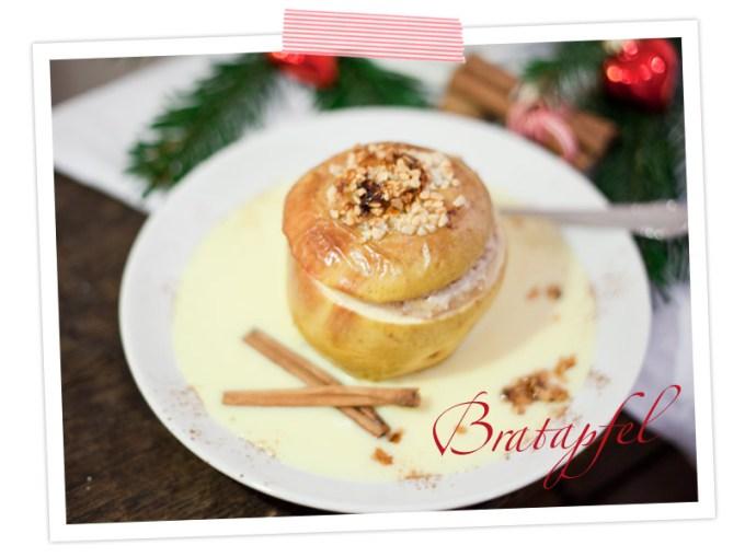 Marzipan-Bratäpfel mit Vanillesosse