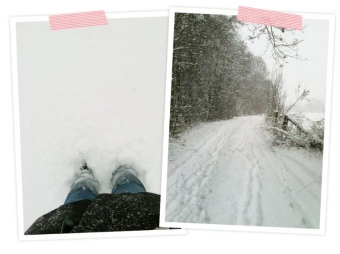 Als ich mit Cooper durch den Schnee getobt bin. Wenn es schneit, bin ich wieder ein Kind!