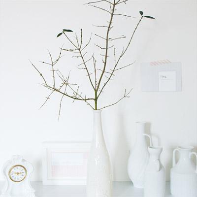 DIY für selbstgemachte weiße Vasen/ DIY for white Vases