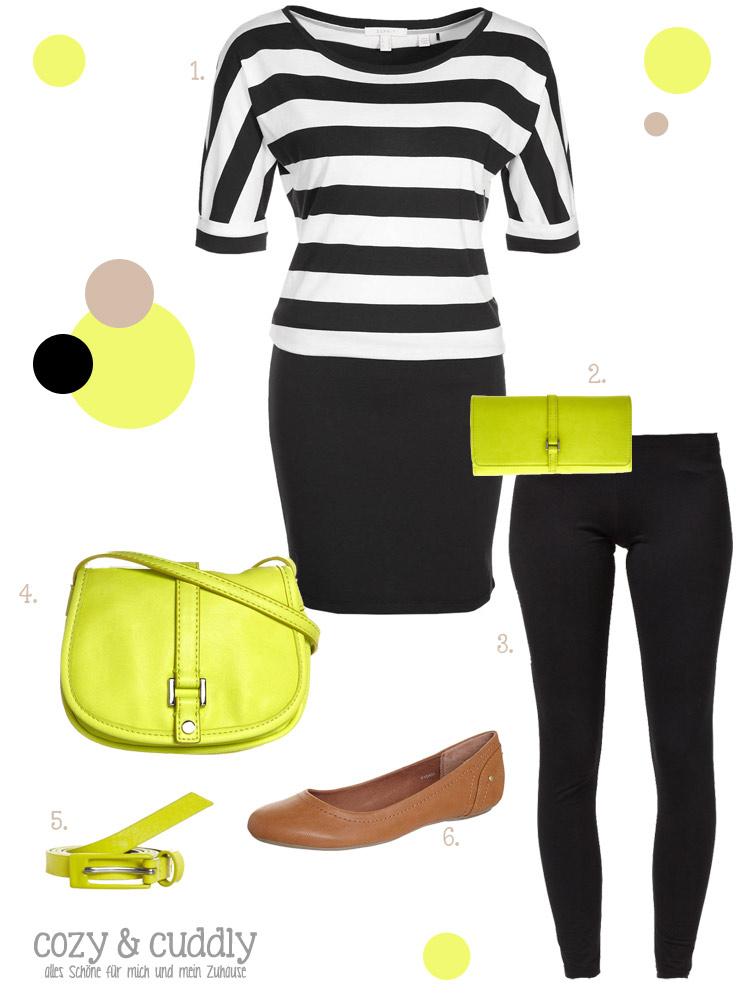 Ein schlichtes Outfit wird mit Neon richtig schick!