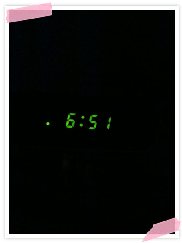 Guten Morgen! Heute eine halbe Stunde länger geschlafen :-)