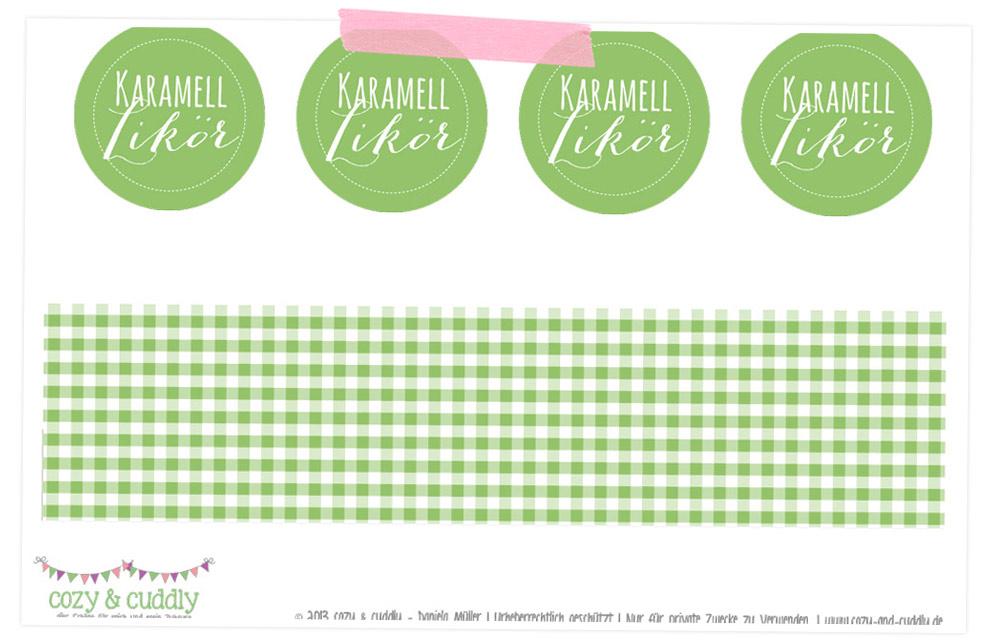 PDF mit den Printables für die Karamell-Likör-Etiketten