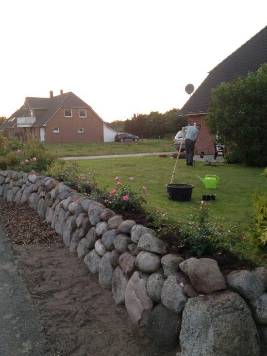 Gartenarbeit in der Abendsonne