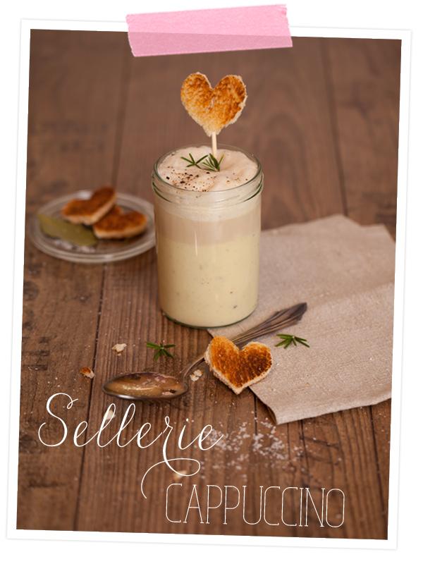 Sellerie-Cappuccino: Rezept für Selleriesuppe mit Kaffeeschaum im Glas
