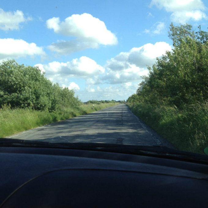 beigefahren... rüber nach Nordfriesland