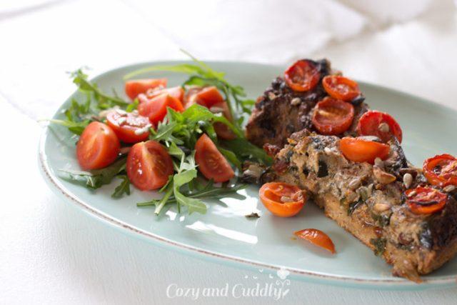 Vegane Gemüse-Quiche - Rezept mit mit Mangold, Tomaten und Zucchini  44