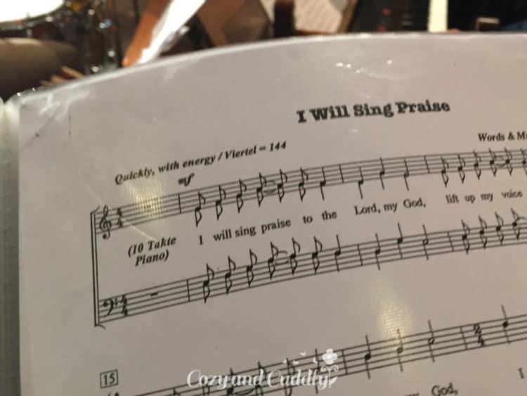 """Danach ging es zum Chor. Ich liebe """"meine"""" Chöre!"""