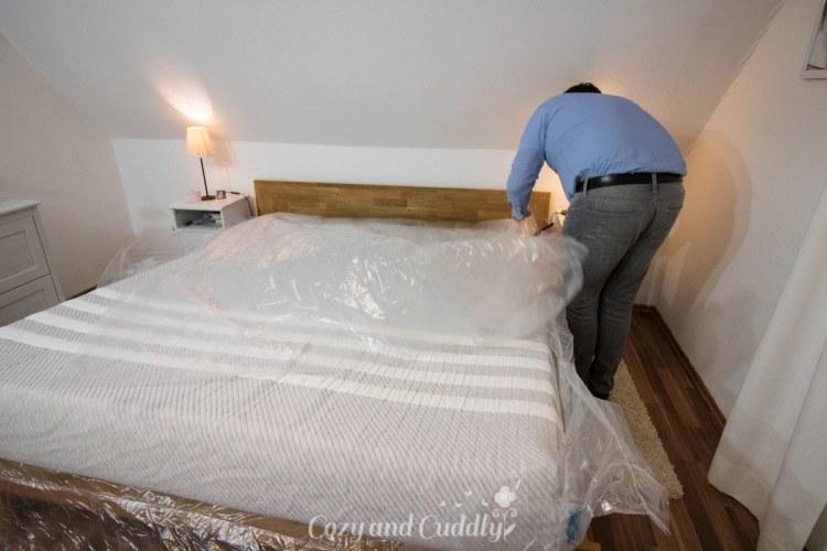 Leesa Matratze im großen Schlafzimmer-Test