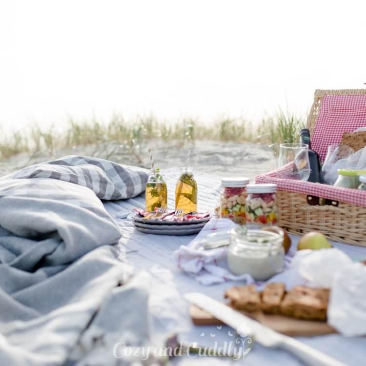 Traumtag mit Picknick in den Dünen und am Meer in Sankt Peter Ording