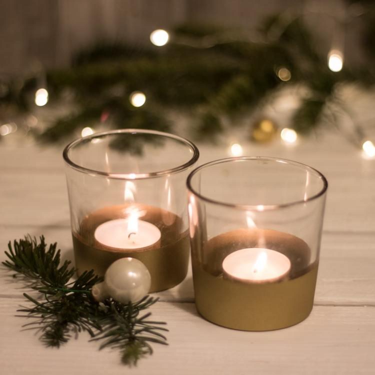 Advent: Anleitung für Last-Minute-Gold-Teelichter - tolle Geschenkidee - cozy and cuddly Adventskalender