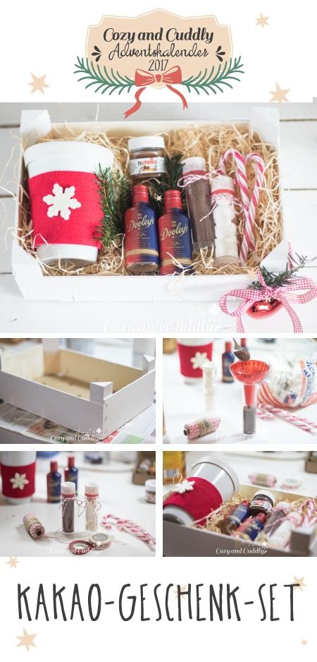 Advent: DIY-Geschenk Set für heiße Schokolade aus Mandarinenkiste - cozy and cuddly Adventskalender