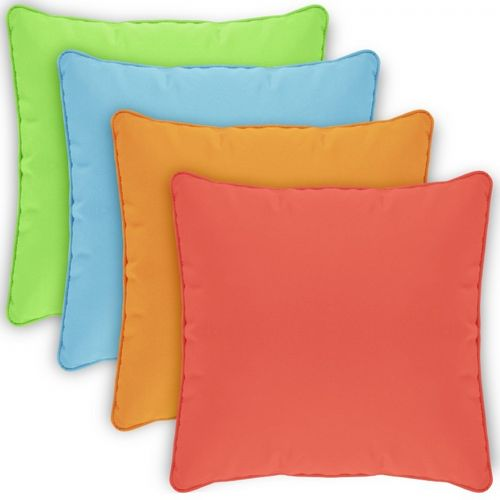 pillow cover square zippered welted 22x22 solids