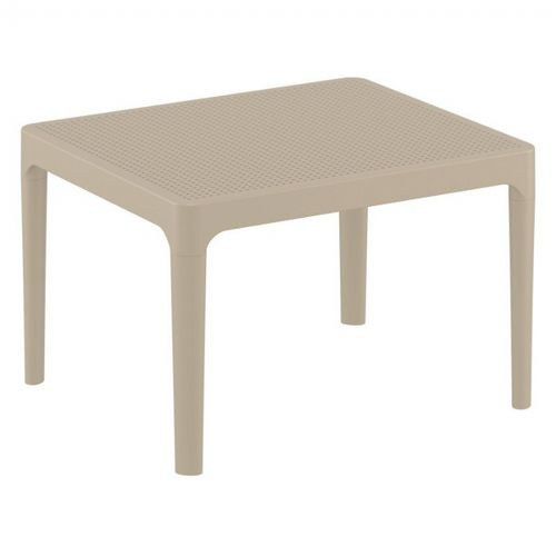 sky resin outdoor side table taupe