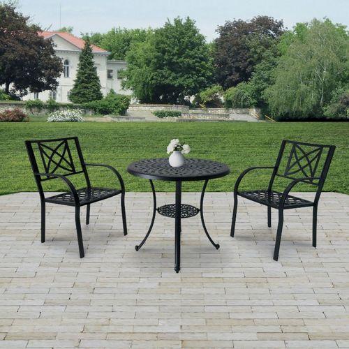 paracelsus outdoor patio aluminum 3 piece bistro set
