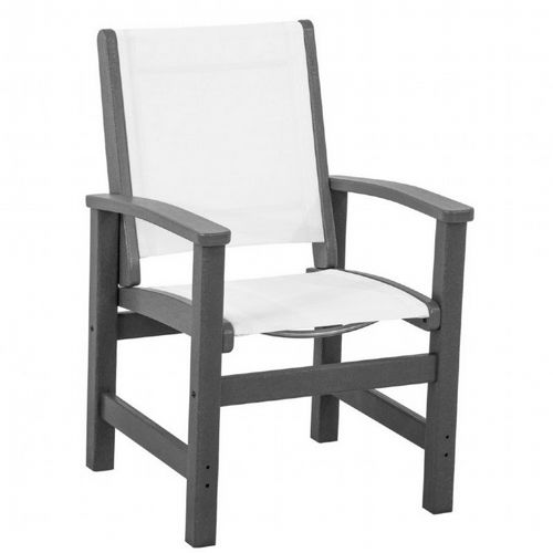 polywood coastal sling outdoor dining chair