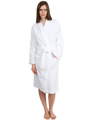 TowelSelections Mens Waffle Bathrobe Turkish Cotton Kimono Robe Made in Turkey