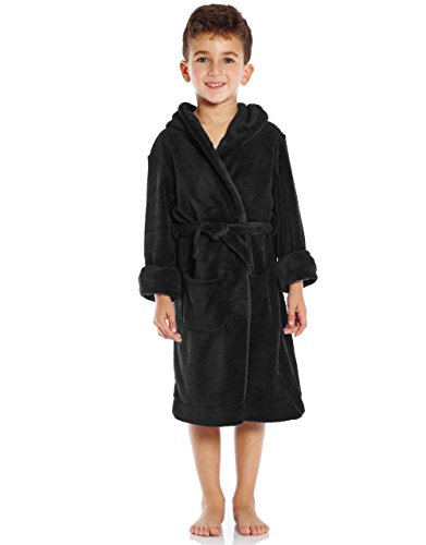Baby Toddler Robe Hooded Flannel Bathrobe Pajamas Sleepwear for Girls Boys