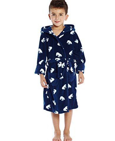 Toddler Childrens Boys Novelty Comic Book Dressing Gown Robe Night Thick Warm