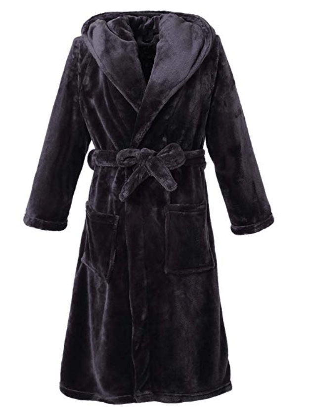 Richie House Womens Plush Soft Warm Fleece Bathrobe Robe RH1591
