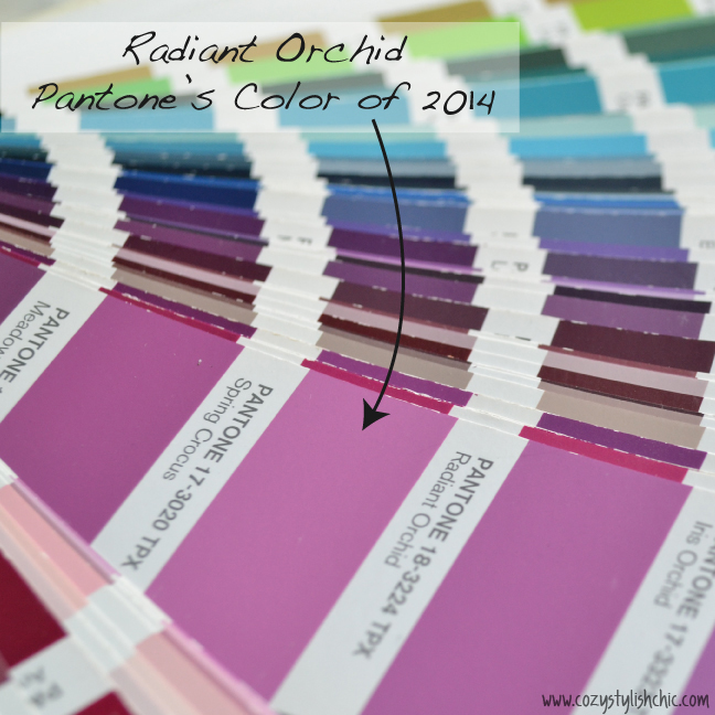 """Radiant Orchid"", Pantone's Color of 2014 via cozystylishchic.com"