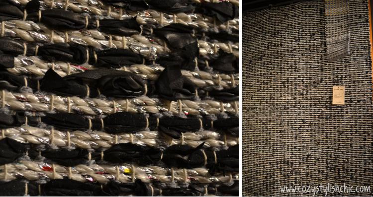 Chandra leather and metallic rug via Cozy•Stylish•Chic