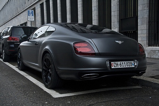 Matte black Bentley - sleek and sexy is back!