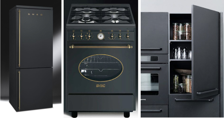 Matte black appliances - Sexy and sleek is back.  Via Cozy•Stylish•Chic