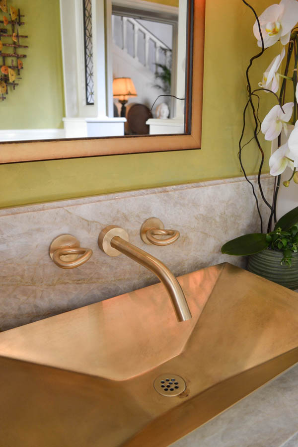 Powder Room by Whitcomb-Hughes Design +Build