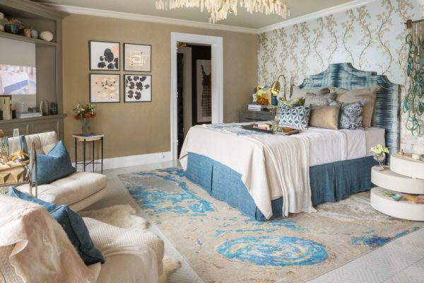 Guest bedroom for the 2017 Pasadena Showcase House-Cozy Stylish Chic