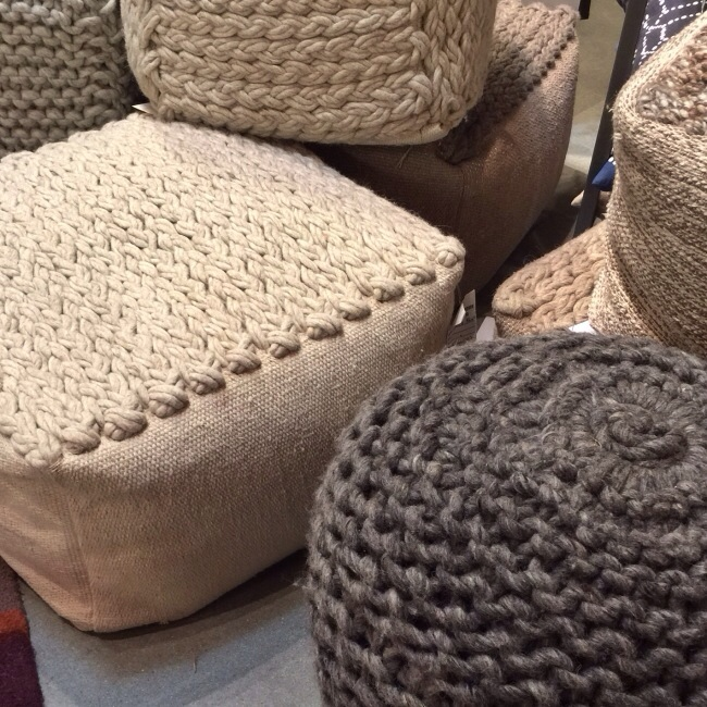 Chunky textured poufs from Jaipur via Cozy Stylish Chic