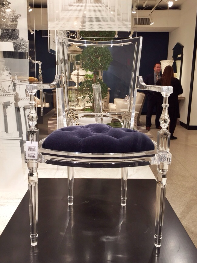 The Marilyn Acrylic Chair from Global Views via Cozy Stylish Chic