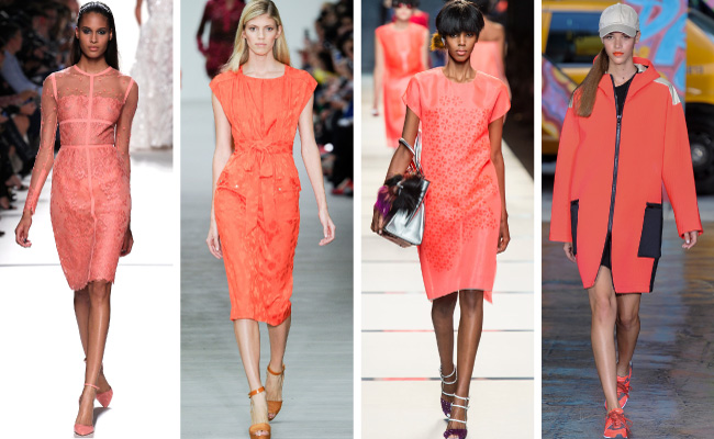 Coral seen on the Spring 2014 fashion runway