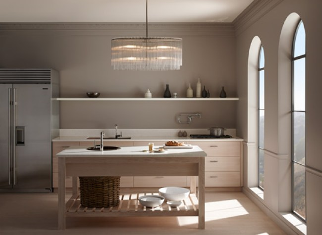 Kohler and Benjamin Moore collaboration-soft focus kitchen
