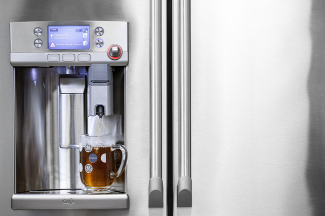 GE Café French Door with Keurig coffee brewer | Cozy Stylish Chic