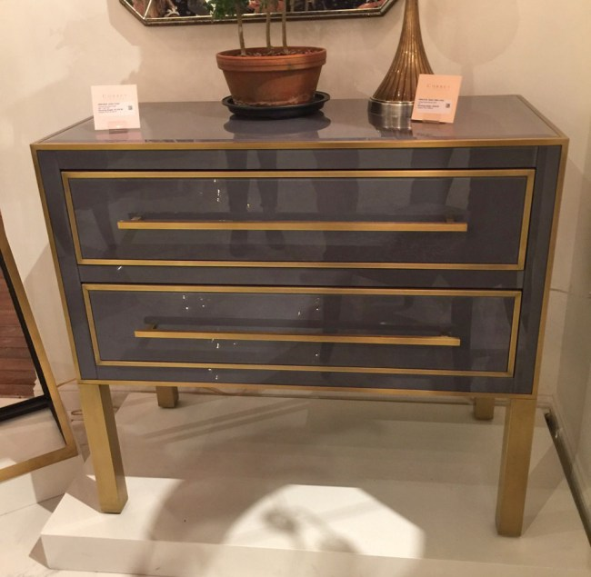 High Point Market highlights - Currey and Co reverse glass night table HPMkt best of