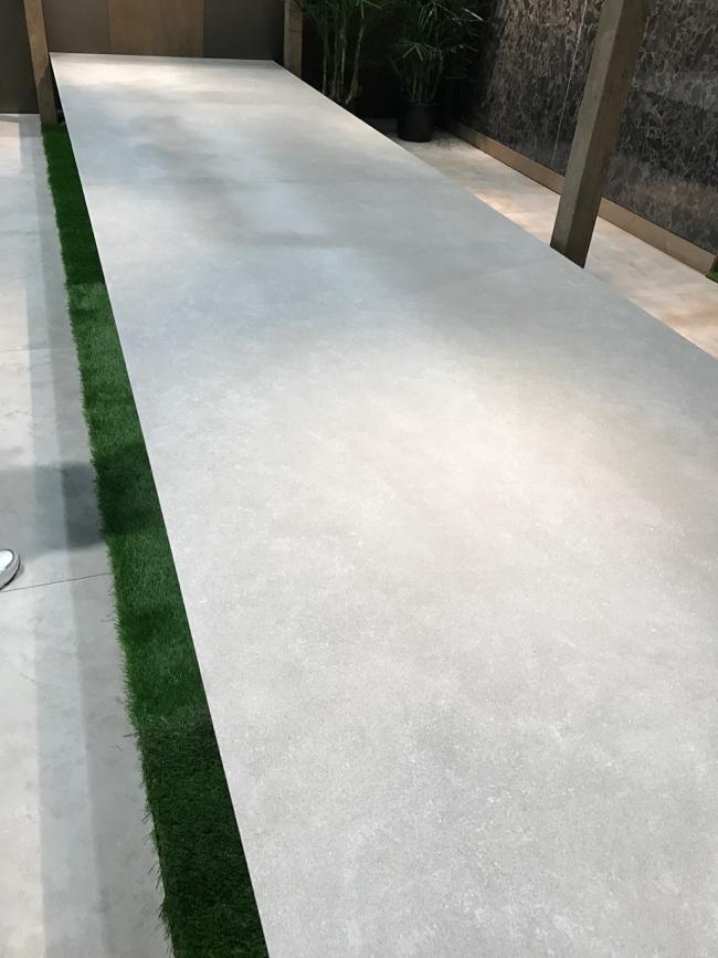 Coverings 2017 - large format concrete tile trend
