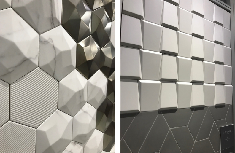 2018 tile trends seen at TISE - 3 Dimensional tile from Emser Tile