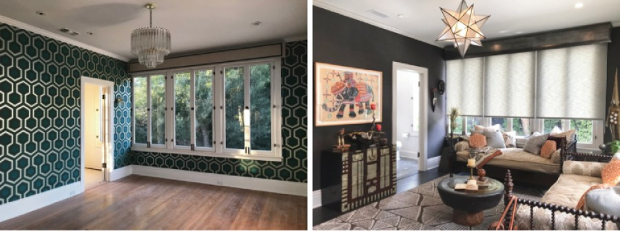 Pasadena Showcase House Before and After-Travelers-Suite