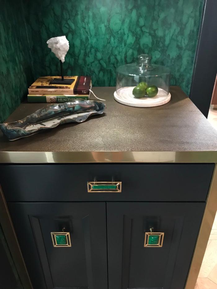 Brass Shagreen countertop | 2018 Pasadena Showcase House Kitchen Reveal | Designer: Jeanne K Chung of Cozy Stylish Chic