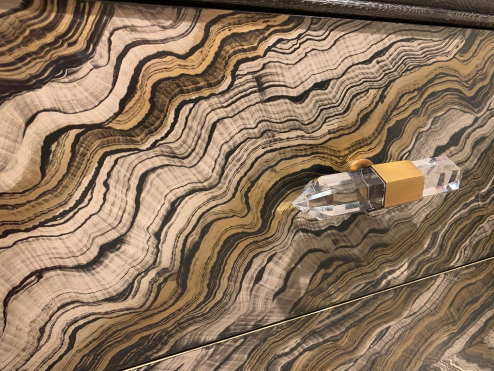 Spring 2019 Trends - Digital printing on wood with crystalline handle at Highpoint Market