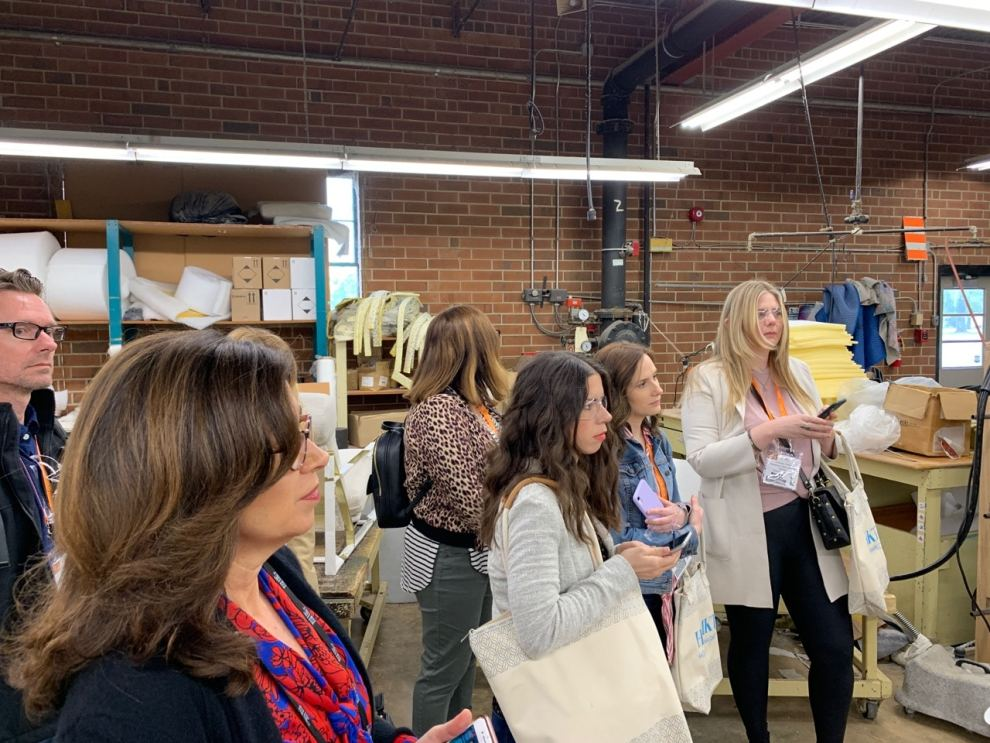Thayer Coggin Insiders Factory Tour at Highpoint Market