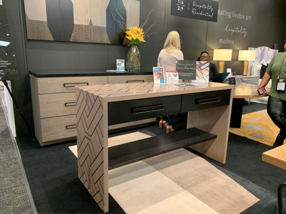 Design Trends - digital printing on wood table at Highpoint Market